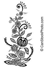 flowers and leaves design element