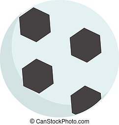 Black and white football ball vector illustration