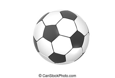 Football, Soccer ball - Black and white Football, Soccer...