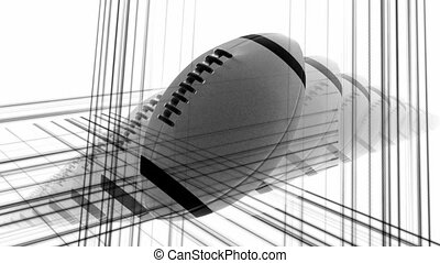 Black and white football