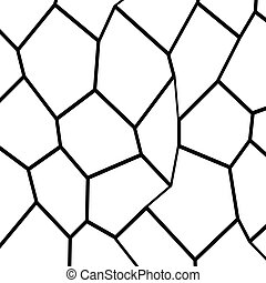 Black and White Fragmentation Background - Black and White...