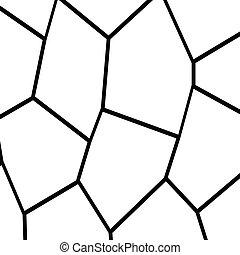 Black and White Fragmentation Background - Black and White ...