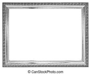black and white frame isolated on white background