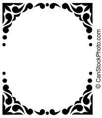 Black and white frame