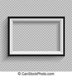 black and white frame transparent