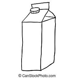 cartoon milk carton rh canstockphoto com school milk carton clipart Milk Clip Art