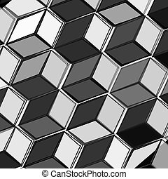 Black and white fresh modern abstrakt y background with cubes . Vector illustration.