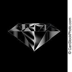 black and white gem