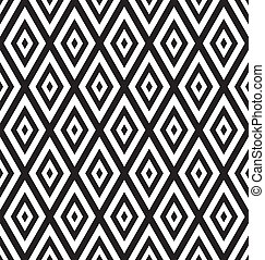 Black and White Geometric Abstract Background Seamless Pattern.  Illustration