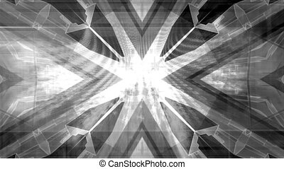 Black and white geometric abstract