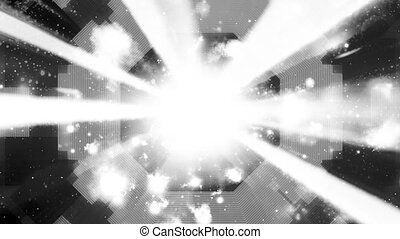 Black and white geometric light beams and particles science...