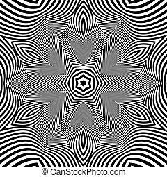 Black and White Geometric Pattern.