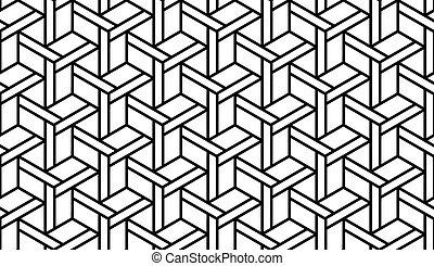 Black and White Geometric Pattern - Black and White Optical...
