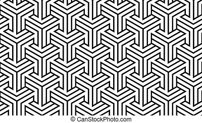 Black and White Geometric Pattern - Black and White Optical...