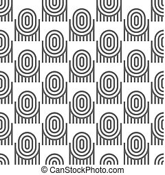 Black-and-white geometric seamless pattern with ovals