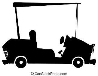 Black And White Golf Car