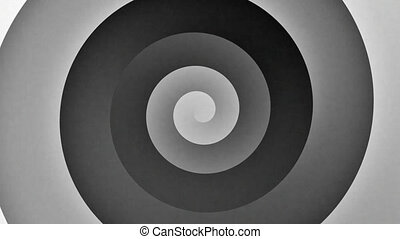 Black and White Gradient Spiral Motion Loop