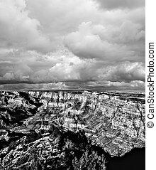 Black and white Grand Canyon Arizona - Black and white late...