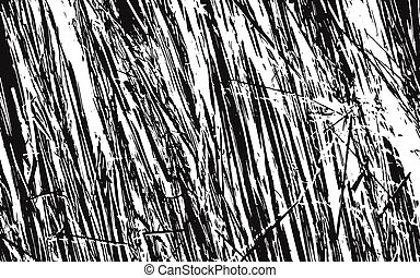 Black and White Grass Silhouette Texture Rustic Background -...