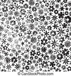 Grunge Flowers Background