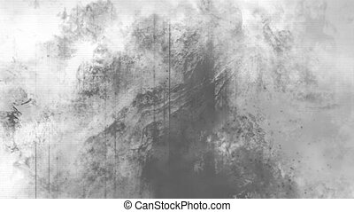 Black and white grunge horror texture abstract looping background