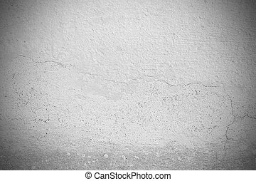 Black and white grunge wall background and texture