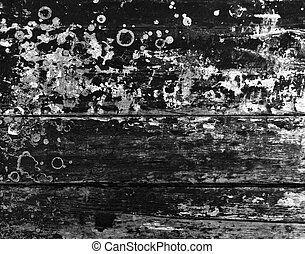Black and White Grunge Wood Texture