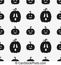 Black and white halloween pumpkins pattern backdrop