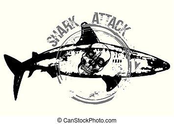 skull in a shark