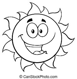 Black And White Happy Sun