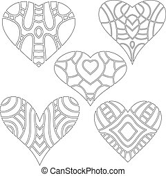 Black and white heart collection