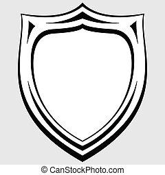 heraldic badge vector - black and white heraldic badge...
