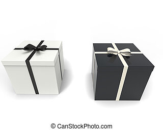 Black and white holiday box gifts