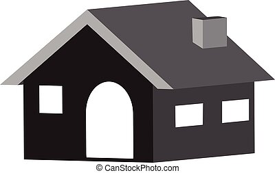 Home 3D icon in vector design in a white background