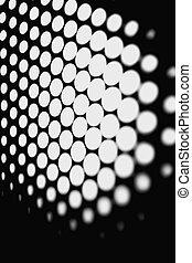 Black and white honeycomb background