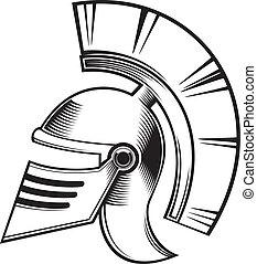 hoplite helmet - black and white hoplite helmet.