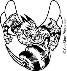 hornet - black and white hornet mascot for school, college ...