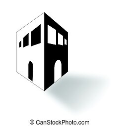 black and white house sketch vector - minimal black and...