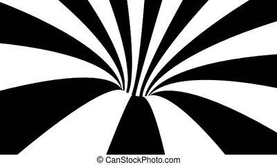 Black and white hypnotic spiral. Abstract bckground