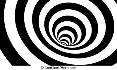 Black and white hypnotic spiral. Abstract bckground....