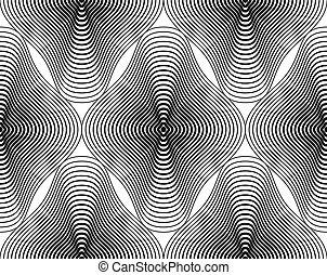 Black and white illusive backdrop