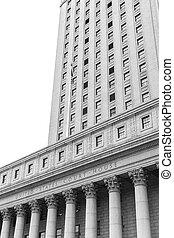 United States Court House - Black and white image of United ...