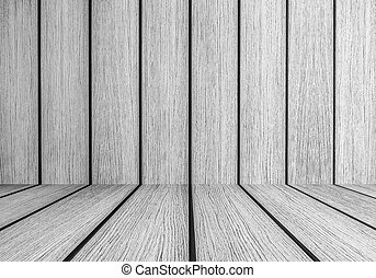 Black and white interior planks