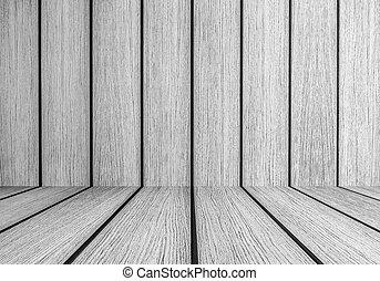 Black and white interior planks