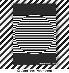 Black and white interior poster