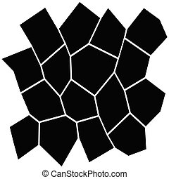 Black and White Irregular Grid, Modular Structure Mesh...
