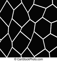 Black and White Irregular Mosaic Template - Black and White...
