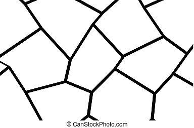 Black and White Irregular Mosaic Template - Black and White...