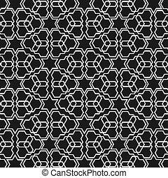Black and white islamic pattern