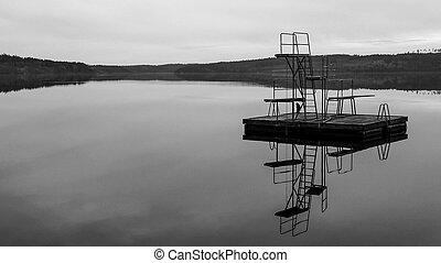 Black and white jetty